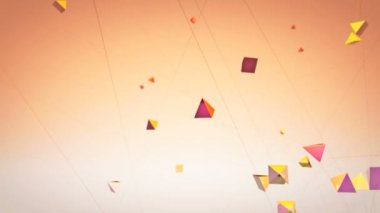 Flying geometrical shapes — Stock Video