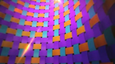 Dynamic colorful fabric wall — Stockvideo