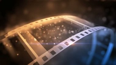 Roll out of a film roll — Vídeo stock