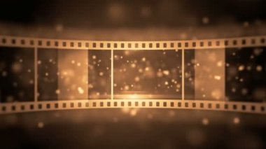 Great opening of film roll — Vídeo stock