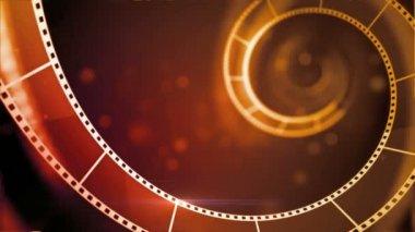 Intro of movie filmstrip — Stock Video