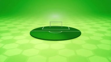 Animated football playground rotated on the screen — Vídeo de Stock