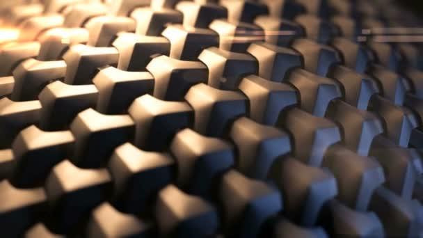 Brown cotton cloth surface moves — Vidéo