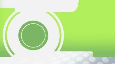 Animated green circle transform into a bulletin board — Stock Video