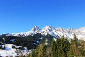 Winter Austria mountain in the Alps — Foto de Stock