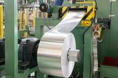 Aluminum roll for press molding — Stock Photo
