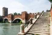Old bridge Verona Italy — Stock Photo