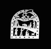 White silhouette crib — 图库照片