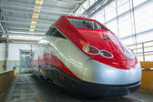 New train model ETR 500 ready to exit from the workshop — Stock Photo