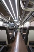 Business class rail wagon — Stock Photo