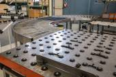 Assembly roller line — Stock Photo