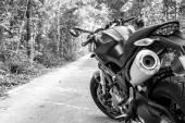 Motorbike in the nature — Stockfoto