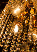 Detail of a crystal chandelier — Stock Photo