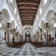 Interior of an old church with marble columns — Stock Photo #76995399