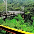 Metal bridge on the way to Volcano Arenal and La Fortuna, Costa Rica. — Stok fotoğraf