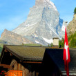 Matterhorn's mountain viewed from Zermatt in Switzerland — Stock Photo #52410773
