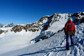 Climbing in the Zermatt High Route, the Alps, Italy & Switzerland — Stock Photo