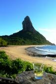 Chilling around in praia Conceição, on of the best beaches in Fernando Noronha, Brazil — Photo
