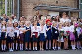 September 1 in Ukrainian school. — Stock Photo