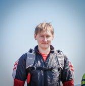 Young skydiver preparing to climb — Stock Photo