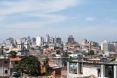 View over poor mans houses to city center pelourinho, of salvador bahia, brazil, — Stock Photo