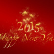 Red happy new year 2015 background with golden letters — Stock Photo #57408417