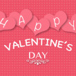 Valentine greeting card with pink hearts on seamless background — Stock Photo #60920377