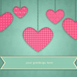 Heart Illustration for Valentines Day an Mothers Day Greetings with Copy space on Banner — Stok fotoğraf #62640821