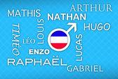 Most popular french newborn boy names — Stock Photo