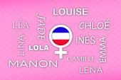 Most popular french newborn girl names — Stock Photo