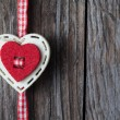 Christmas heart shaped decoration — Stock Photo #61060159