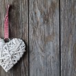 Christmas heart shaped decoration — Stock Photo #61060535