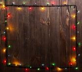 Christmas holiday lights — Stock Photo