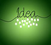 Light bulbs idea — Stock Photo