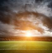 Empty football field — Stock Photo