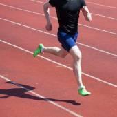 Runner in motion blur — Stock Photo