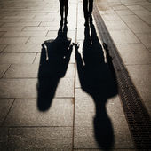 Sillhouette couple in love — Stock Photo