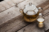 Green tea with jasmine — Stock Photo