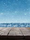 Niebieskim tle Boże Narodzenie — Zdjęcie stockowe