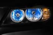Car xenon headlights — Stock Photo