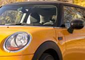 Orange sport car closeup — Stock Photo