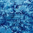 Frost patterns on house glass macro — Stock Photo #63441455