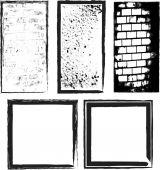 Grunge frames. Vector illustration. — Stockvektor