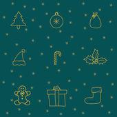 Yeni yıl kutsal kişilerin resmi ile ayarla — Stok Vektör