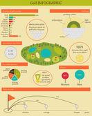 Ilustracja wektorowa z golfa infographic — Wektor stockowy