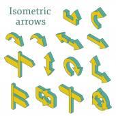 Set of isometric arrows — Stock Vector