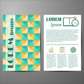Template with geometric cover for flyers or booklets — Stock Vector