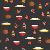 Seamless background on chinese cuisine theme — Vector de stock