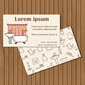 Modello per libretto bagno disegnati a mano o carta — Vettoriale Stock