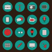 Set of simple journalism icons — Stock Vector